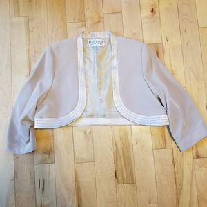 Montage Mon Cheri shrug jacket with satin edge 16